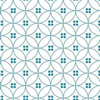 Seamless abstract modern geometric circle line pattern for elegant background. Blue geometric backdrop. Vector  Japanese Pattern.