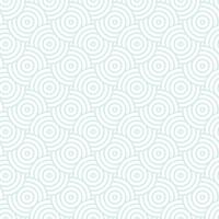 Blue and white intersecting repeating circles pattern. Japanese style circles seamless background. Endless repeated texture. Vector illustration. Minimal oriental vector graphic