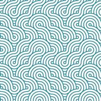 Blue and white stripes weaving texture. Japanese style wavy lines seamless pattern. Print block for fabric, apparel textile, wrapping paper. Minimal oriental vector graphic.