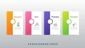 Abstract infographics 4 number options for workflow or presentation. vector