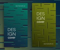 Abstract brochures with gradient lines vector