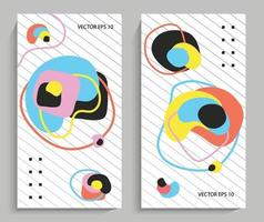 Abstraction of colorful round shapes vector