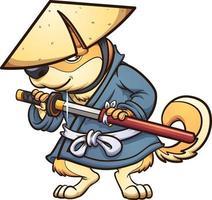 Samurai Shiba Inu vector