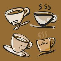 The coffee cup illustration for hot drink content. vector