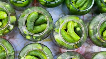 Canning pickled gherkins for the winter
