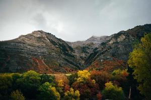 Autumn mountain view photo