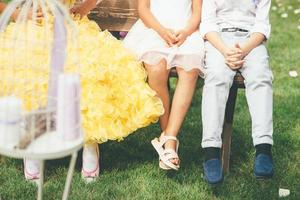 Little guests at a wedding photo