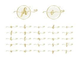 Feminine letter logo collection vector