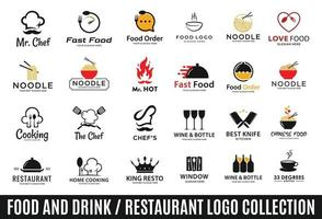 Food or restaurant logo collection vector