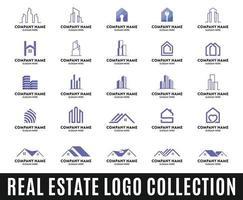 colección de logotipos inmobiliarios vector