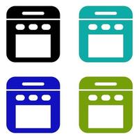 Oven Icon On White Background vector
