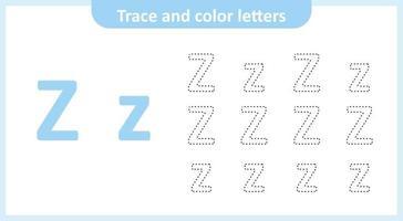 traza y colorea las letras z