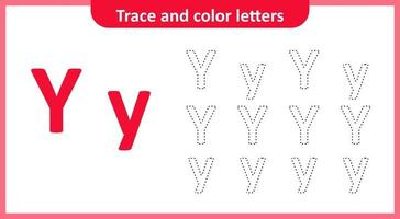 Trace and Color the Letters Y