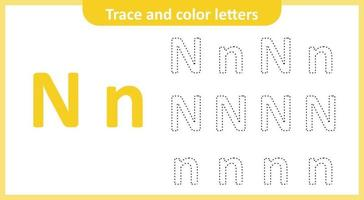 Trace and Color the Letters N