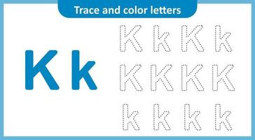 Trace and Color the Letters K