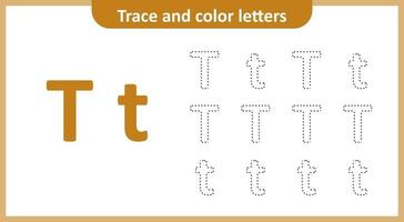 Trace and Color the Letters T
