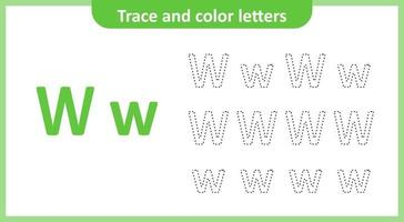 Trace and Color the Letters W
