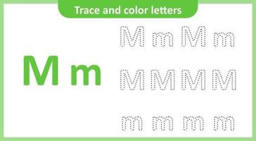 Trace and Color the Letters M