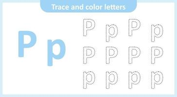 Trace and Color the Letters P