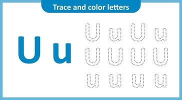 Trace and Color the Letters U