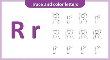 Trace and Color the Letters R