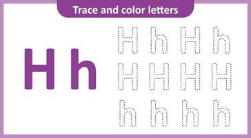 Trace and Color the Letters H
