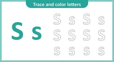 Trace and Color the Letters S