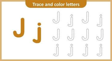 Trace and Color the Letters J