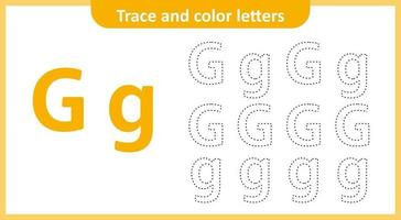 Trace and Color the Letters G
