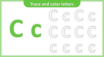 Trace and Color the Letters C vector