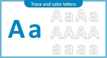 Trace and Color the Letters A
