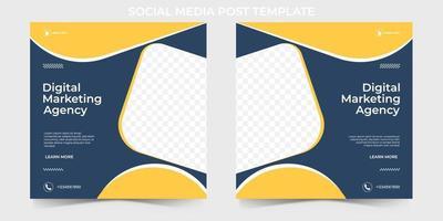 Digital Marketing Agency Social Media Banner template. editable social media post for corporate.