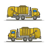 Garbage Truck Icon On White Background vector