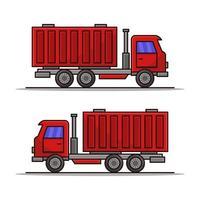 icono de camión sobre fondo blanco vector