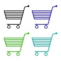 Shopping Cart Icon On White Background vector
