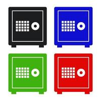 Safe Icon On White Background vector