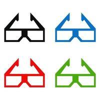 Cinema Glasses Icon On White Background vector