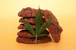galletas con marihuana medicinal, comida de drogas de cannabis
