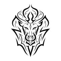 Black and white line art of the front of the lion's head. It is sign of leo zodiac. Good use for symbol, mascot, icon, avatar, tattoo, T Shirt design, logo or any design you want. vector