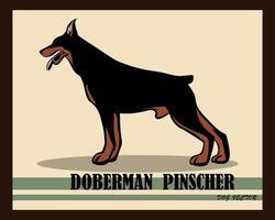 Doberman Pinscher Dog vector eps 10