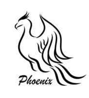 Ilustración de vector de arte de línea de logotipo de Phoenix
