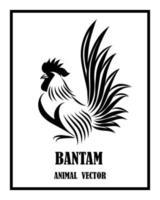 bantam. It is standing eps 10 vector