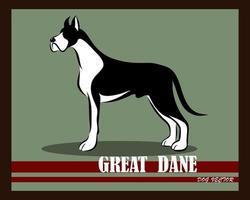 Great Dane dog vintage vector eps 10