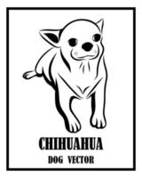 Chihuahua dog black and white vector eps 10