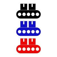 Conveyor Belts Icon On White Background vector