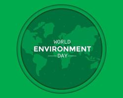 World Environment Day With World Map vector