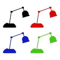 Desk Lamp Icon On White Background vector
