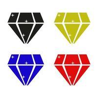 Diamond Icon On White Background vector