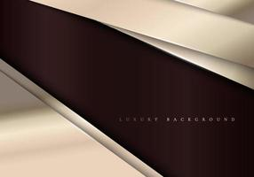Elegant metallic template background with diagonal golden stripes luxury style vector