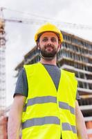 Building construction worker engineer posing photo